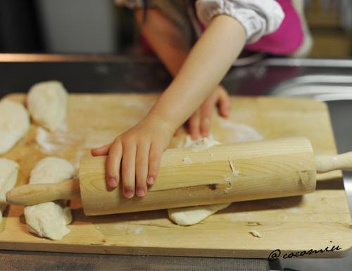 朝 パン作り